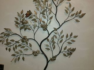 Wall Hanging  Metal Tree with leaves  34 x 28