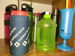 8 Plastic Drinking Bottles