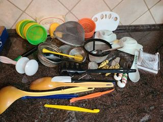 Cookware  Various Items  Strainers Egg Slicer  and other Various items