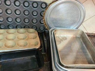 Bakeware  Various Cookie Sheets Cupcake Pans Cake Pans