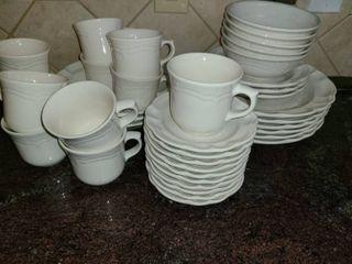 Dinnerware  38 pc Set of white PFAlZGRAFF Plate Set