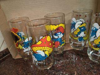 Smurf Glasses  5 pcs set