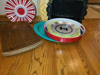 Serving Platters  Plastic and Ceramic