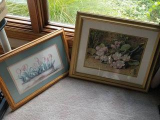 Jodi Jenson water color 14 x 20 and floral print 20 x 23