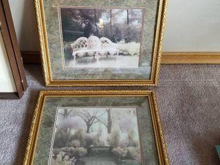 Framed artwork 19 x 22 set of 2