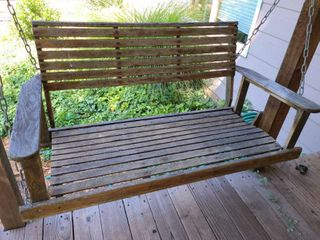 Wooden Porch Swing 22 x 46 x 18 in