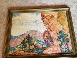 Olive M Kuns 1921 oil painting 22 x 28