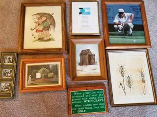 Assorted prints set of 8