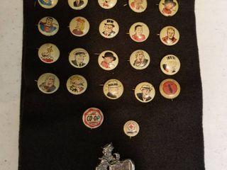 Kellogg s 1940 s Pep Pins Comic Strip Characters