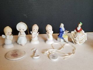 lefton Angel s 2 1 2  and Occupied Japan figurines 3