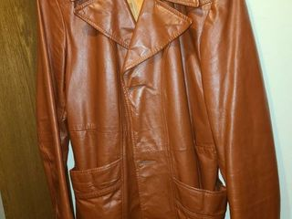 Short Brown Womens leather Jacket