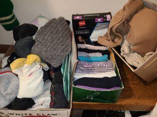 Womens Socks Underwear Size 6 MED and Bras 36 C
