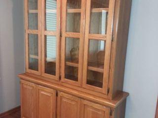 Wooden Buffet Hutch 86 x 60 x 16 in