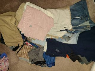 Boys Clothing  Calvin Klein  Hanes  American Eagle  Sizes 29 waist to 31 waist  North Face Jacket Size large