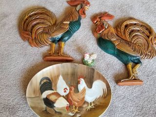 Rooster wall decor 18  set of 4