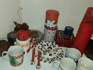 Christmas Decorations  Mugs  Tins and Miscellaneous