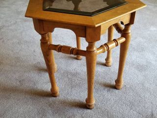 Glass top side table 23 x 22