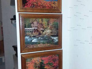 Scenic Framed Art lot of 3