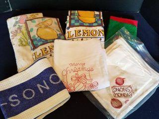 Assorted kitchen towels