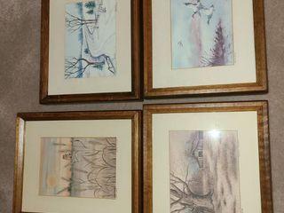 Framed Art  4 Pcs  by Artist lucille S  leisy