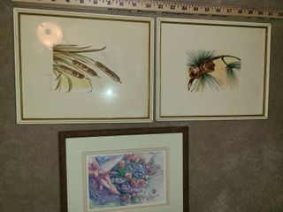 Framed Art  3 pcs   outdoors   pictures