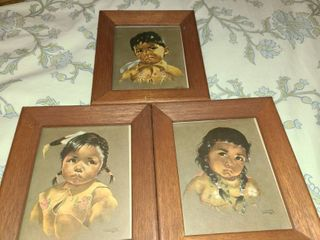 Framed Art  3 pcs  2 by Artist Simon Peters and the other is by Jin