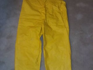 Blair Shoppe Size lG Yellow Rubber Overalls