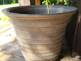 Brown Plastic Pot 17 in Diameter
