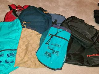 Bags  Various Bags Back Packs  laptop Bags  The Dell is brand new  Couple other bags  9 bags total