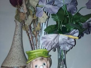 Assorted Vases and Faux Flowers