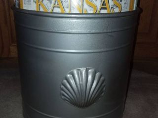 Silver Plastic Waste Bin with Various Kansas Magazines