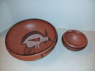 Clay Chip and Dip Bowl Set