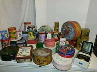 Tin Cans  Mass VARIETY of tins  Different shapes and sizes  Some Old and Sone New