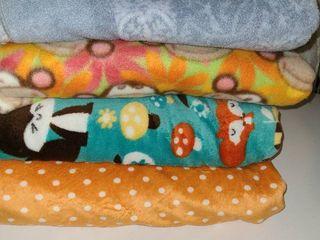 Scrap Fabric  Fleece for making Blankets