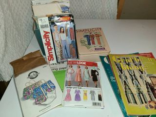 Sewing Items  Patterns tracing paper  Craft and Things  Magazines