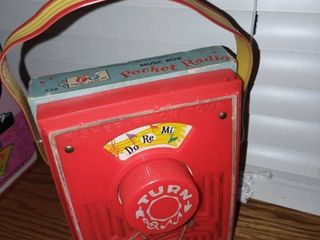Vintage Fisher Price Pocket Radio Music Box Toy