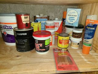 Product  Adhesives  Spackle  putty  glue and other items
