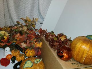 Fall Decor  Pumpkins  Indians  Fall leaves