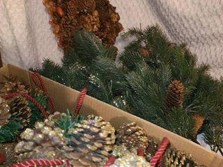 Christmas Decor  Pinecone and Greenery