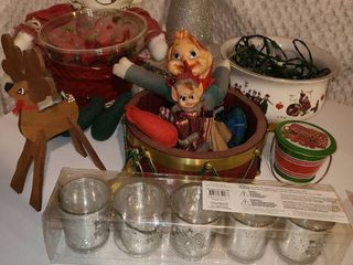 Christmas Decorations  Miscellaneous Items  Candle Holders 1 is broken