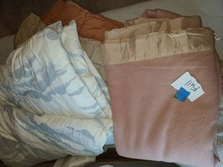 Bedding  Queen Size Comforter  Full Size Comforter blue and white and a Full Size Blanket