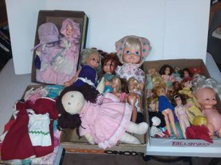 Assorted Dolls and Doll Clothes