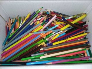 large Box of Colored Pencils