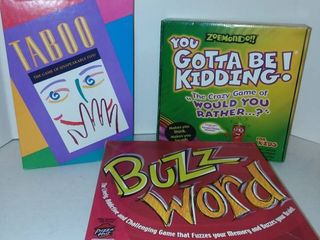 Taboo Buzz Word and You Gotta Be Kidding Board Games