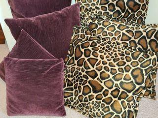 Throw Pillows  7 3 leopard Print 4 Deep Maroon