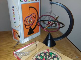 Cosmos Desk Toy with Broken Tiara and Small Darts Game