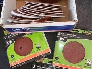 Sand Paper  5  Hook and loop Discs