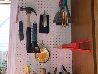 Random Items on a Peg Board   peg board not included