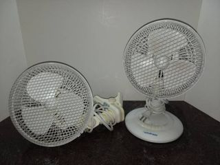 Pair of Desk or Personal Fans