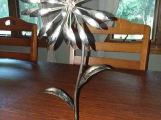 Metal Flower Decor 15 in Tall